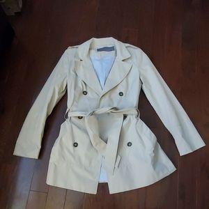 Zara Basic Short Nylon Trench Coat